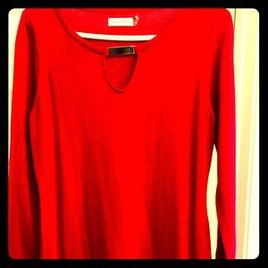 Long sleeve Calvin Cline red dress